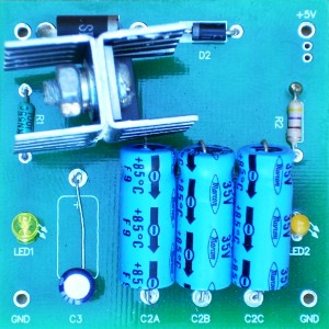 DC-DC 5V Power Supply with LEDs Assembled PCB