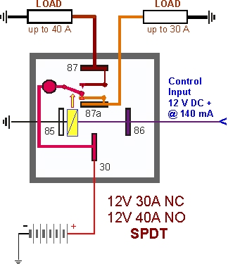 Relay Switch Circuit Diagram